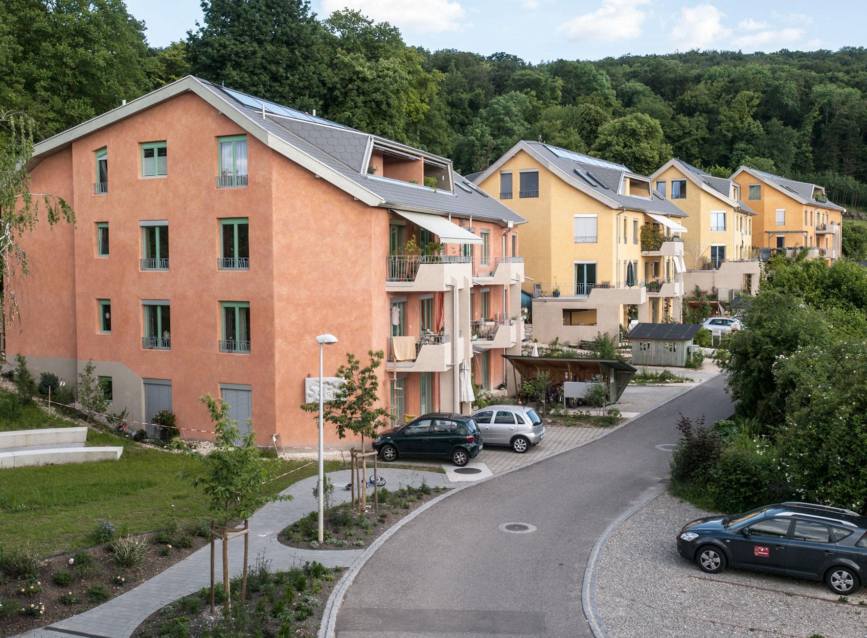 Wohnsiedlung Neue Heimat Dornach Apfelsee Wohnbaugenossenschaft Sophie Stinde